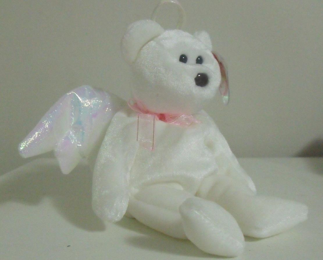 Ty Beanie Babies NWT Halo the White Bear Retired