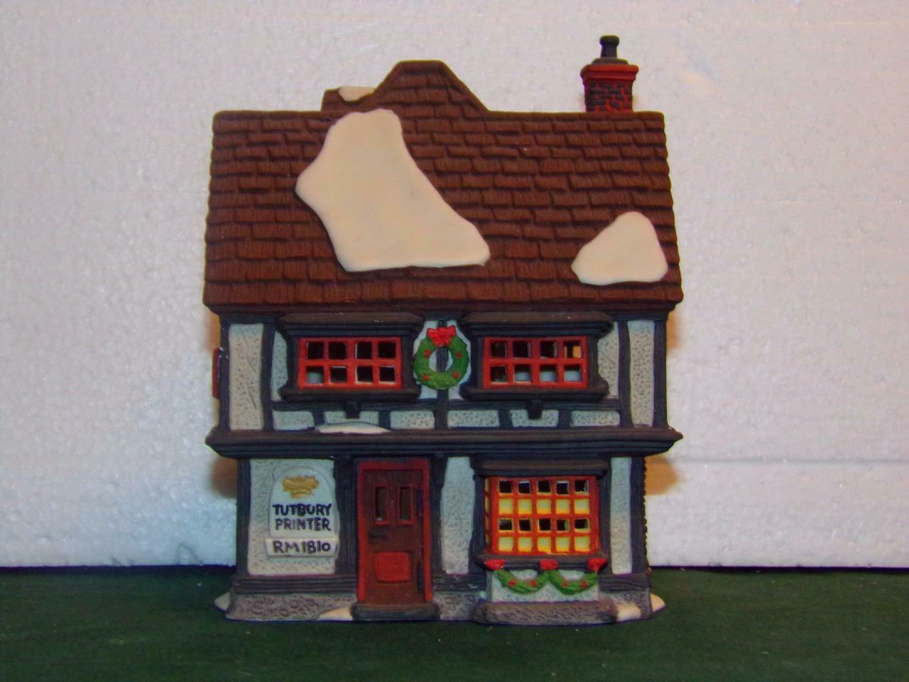 Primary image for DEPARTMENT 56-SUPER SALE- DICKENS VILLAGE SERIES TUTBURY PRINTER -MINT