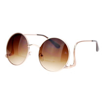 Womens Vintage Fashion Sunglasses Round Circle Frame Low Rise Temple - $9.85+