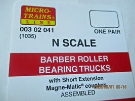 Micro-Trains Stock # 00302041 (1035) Barber Roller Bearing Truck Short Extension image 3