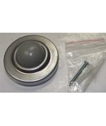 """Taymor 25-S4611SC Satin Chrome Convex Steel  Doorstop 2"""" Diameter - $1.50"""