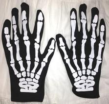Gothic Punk Rocker SKELETON HAND BONE GLOVES Cosplay Halloween costume A... - $6.90