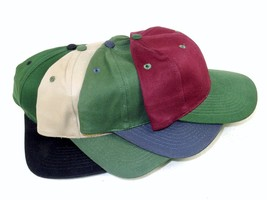6 Panel Twill Baseball Cap, 2 Tone, Choice of 4 Color Combos ~ Free USA ... - $7.95