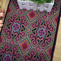 miao hmong cross stitch embroidery fabric lace ... - $15.50