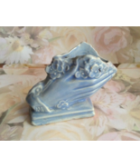 Ceramic, Blue Hands Holding Flowers Vase, Minia... - $7.50