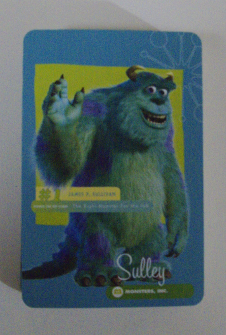 Disney Pixar Monster Inc Sulley & Friends Playing Cards w/ Fur Pouch - Like New