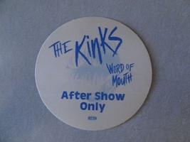 THE KINKS satin cloth BACKSTAGE PASS tour OTTO AFTER SHOW ONLY - $11.38