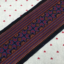 hmong cross stitch embroidery fabric lace trim ribbon tape webbing boho ... - $9.80