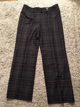 Women's Talbots Petites Stretch Checkered Wool/Spandex Lined Pants, Size 12 - $33.99