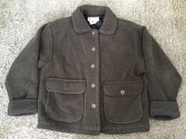 Women's Columbia Olive Fleece Jacket Size M, Made In USA - $25.00