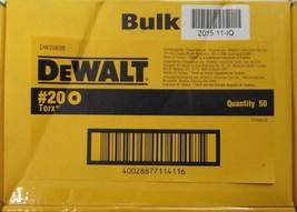"""Dewalt DW2660B #20 x 1"""" Torx Screw Bit Tips 50pcs. - $14.00"""