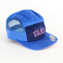 Vans Off The Wall Meshed Trucker Blue Adjustable Strapback Hat Cap - $22.95