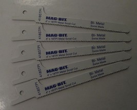 "Mag-Bit by Bosch 2608656926 418ST 4"" x 18TPI Bi-Metal Recip Saw Blades 5... - $4.25"