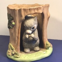 Franklin Mint Woodland Surprises Squirrel Figurine Chipmunk Jacqueline B Smith - $29.65