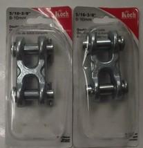 "Koch Industries 097291 Double Clevis Link 3/8"" Zinc Plated Finish 2pcs - $9.50"