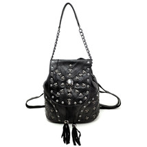 Women's Backpack Rhinestone Human Skeleton Cross Mosaic Multi-function T... - $36.19
