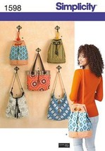 Simplicity Pattern #1598 Every Day Hand Bags Pl... - $6.50