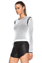 NWT $370 Helmut Lang Modern Mesh Black & White Double Layer Sweater sz L - $159.99