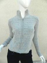 Tulle Anthropologie Sweater Gray  Acrylic Blend Cardigan Sweater Sz L - $21.69