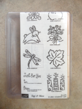 TAGS And More Holidays Stampin' Up Seasons 8 Wood Unmounted Rubber Stamp... - $18.99