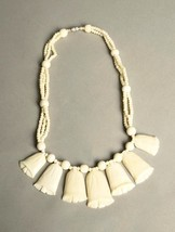 Vintage Ethnic Necklace Exotic Beads Bold Handmade Jewelry - $65.00