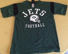 New York Jets Football T Shirt, Medium 10 /12 Child's, Nfl Team Apparel - $8.14