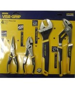 Irwin Vise Grip 2078705 4 pc Plies Set Groove Joint, Adjustable Wrench - $26.77