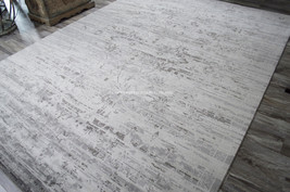"8x10 (7'9"" x 9'9"") Modern Contemporary Nourison Wool Silk Silver Gray Ar... - $2,039.00"
