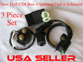 CDI+Ignition Coil+Solenoid Motofino Lance Jonway Qlink - $22.43