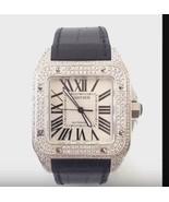 Cartier santos mens watch alligator bracelet ic... - $8,761.50
