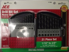 ACE 2111086 21pc Heavy Duty Drill Bit Set 1/16 To 3/8 - $14.00