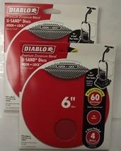 "Diablo DCD060060H04W 2-4 Pack's U-Sand Hook & Lock 6"" 60 Grit Sanding Discs - $3.25"