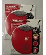 "Diablo DCD060120H04W 2-4 Pack's U-Sand Hook & Lock 6"" 120 Grit Sanding D... - $2.75"