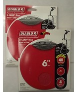 "Diablo DCD060040H04W 2-4 Pack's U-Sand Hook & Lock 6"" 40 Grit Sanding Discs - $4.25"