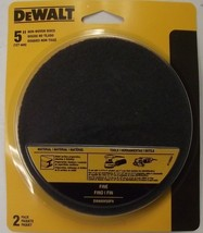 "Dewalt Dwanw50 Fn 2pk 5"" W X 5"" L Non Woven Discs Sandpaper Fine Usa - $4.50"