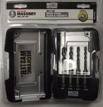 Master Mechanic 702603  Carbide SDS Plus 4 PC Masonry Drill Bit Set - $8.60