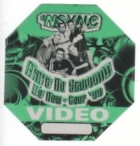 'N SYNC n sync backstage Satin Cloth PASS tour collectible VIDEO '99 - $11.99