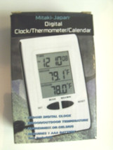 Mitaki-Japan Digital Clock Thermometer Calendar ELCLOCK2 - $5.90