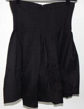 Cotelac Black Pleated Florettes Full Skirt Sz -... - $17.99