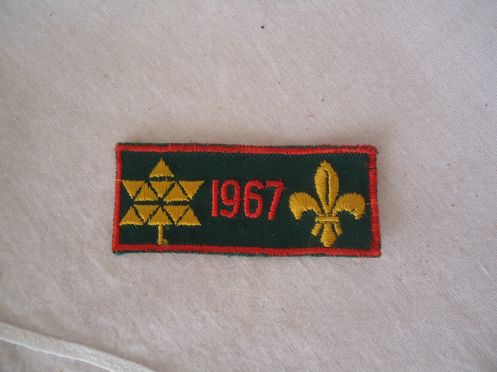 1967 Vintage Boy Scouts Patch Boy Scouts of Canada Fleur-de-lis