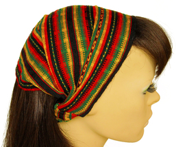 Rasta Peruvian ethnic Woven Turban Headband, Head Wrap, wide boho headband - €8,03 EUR