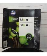 Hp OfficeJet 88XL Black Ink Genuine CC605BN Twin Pack Combo Date: EXP Ju... - $19.85
