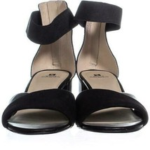 White Mountain Evie Criss Crossed Ankle Strap Sandals 736, Black, 10 US image 2
