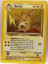 NICE HOLO! Raichu 14/62 Holo Rare Pokemon Fossil TCG VERY Sharp Pokemon ... - $16.64