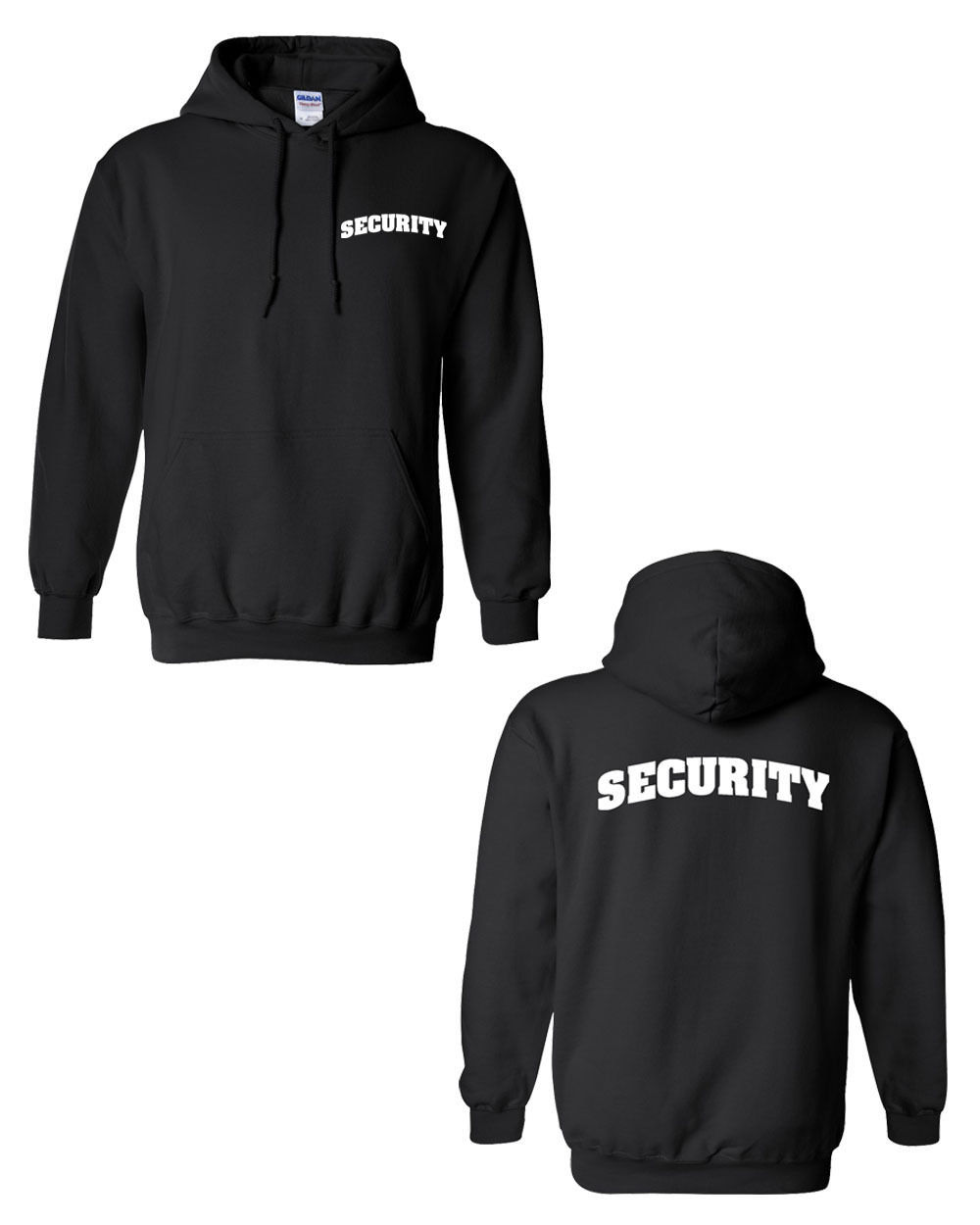 SECURITY Event  BOUNCER Bar Concert Show DOUBLE SIDED Black  Men's HOODIE for sale  USA