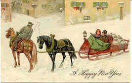 Happy New Year Paul Finkenrath of Berlin Vintage Post Card - $7.00