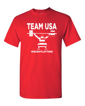 Weightlifting Team USA United States of America Men's Tee Shirt 1471 - €8,40 EUR+