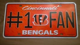 Cincinnati Bengals #1 Fan Metal Embossed Licens... - $8.99