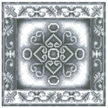 Cross stitch kit Lanarte 34912 Classic ornament 4 .Razmer 17/17 cm. - $8.00