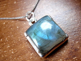 REALLY Nice Quality (no kidding) Blue Labradorite Necklace 925 Sterling ... - $86.31
